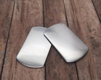 Stamping Blank - Dog Tag 1100 aluminum blank 14 gauge Raw