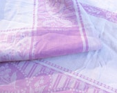 SALE ! Vintage tablecloth, lavender tablecloth, purple tablecloth, square tablecloth, vintage fabric, lavender fabric, damask table cloth.