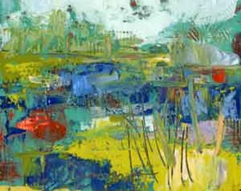 Abstract Marsh Painting