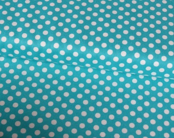 Moda Turquoise Spots cotton woven fabric - UK seller