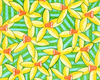 Spring daffodil greeting card