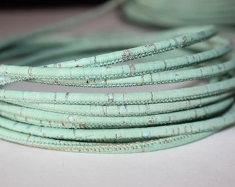 Cords Cork 3mm (1 meter) - Green Mint
