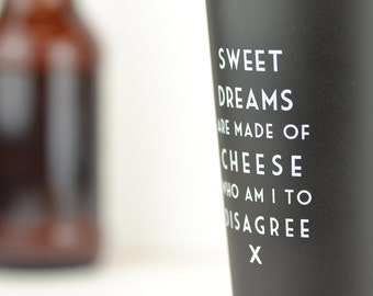 Sweet Dreams are Made of Cheese - Mistaken Lyrics Pint Glass