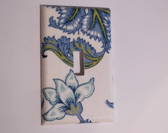 50% off Closing SALE!! Floral Light Switch Cover switchplate light switch plate cover fabric light plate cover - Made to Order