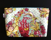Makeup Bag // Cosmetics Zipper Pouch // Travel Toiletries Bag