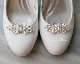 2pcs Crystal Rhinestone Shoe Clips,Wedding Shoe Clips, Bridal Shoe Clips, Rhinestone Shoe Clips, lower Girls Shoe Clips