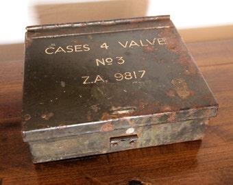 World War Two radio valve box