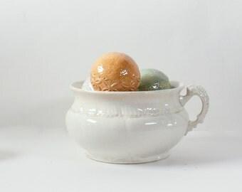 Antique Porcelain Bowl, Porcelain Pot, Admiral Chamber Pot, Victorian Porcelain Chamber Pot, Porcelain Planter, Victorian Bowl, Antique Bowl