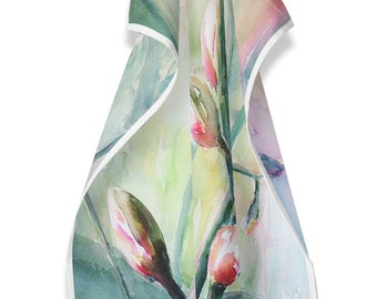 Tea Towel with floral watercolour
