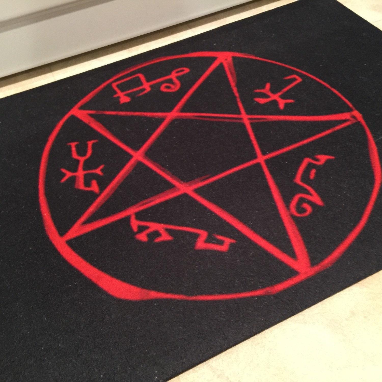 Sale Devil Trap Rug Demon Symbol Supernatural Crowley King