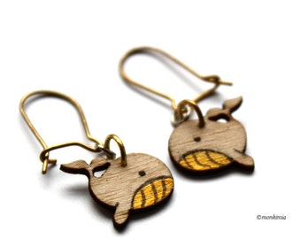 Earring - whale - gold