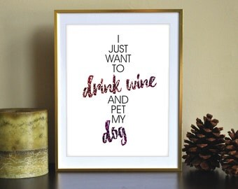 Wine & Dogs Printable