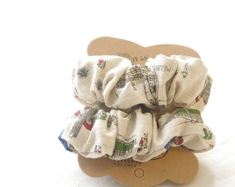 Melbourne Scrunchie Set - Accessories Hair Tie Hair Band Floral Scrunchy Mothers day gift