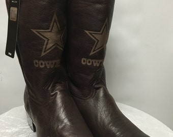 NFL Handcrafted Classic Cowboys Western Boots