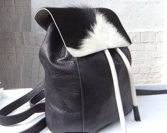 Panda leather backpack 02