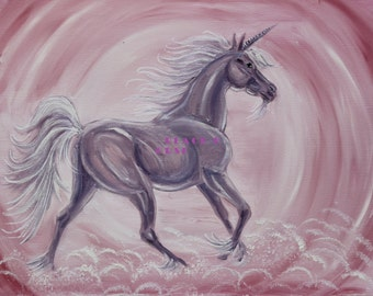 Unicorn/Pink Unicorn/JPG/Art for Kids Room/Art/to print/