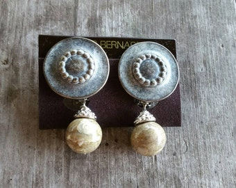 Les Bernard for Avon Stone Drop Clip On Earrings