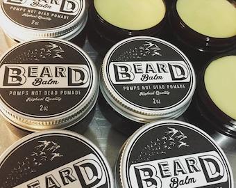 "beard balm ""it's for the B(i) eards"""