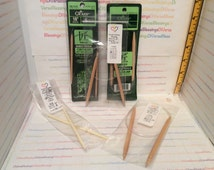 CLOVER, Takumi, Circular, Knitting Needles, Bamboo Points, Nylon Cable, 29 Inch, Various Sizes, Repackaged, Made in Japan