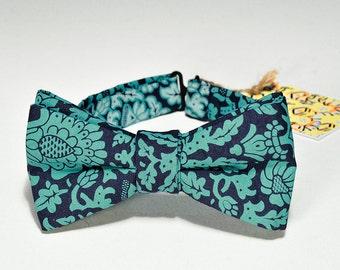 mens bowtie handmade and silkscreened, wedding bowtie