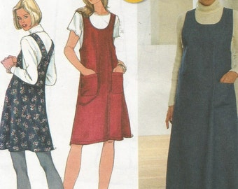 7425 Simplicity Sewing Pattern Long or Short Pullover Flared Jumper Dress Size 14 16 18 36B 38B 40B