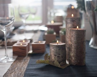 9 Rustic Wood Candle Holders,Tree Branch Candle Holders Set of 9 Heights, Tree holders, Wooden Candle Holders