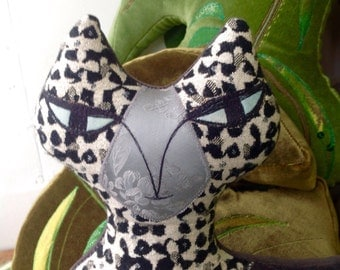 Cat Animal shaped Cushion /pillow is handmade in brighton .