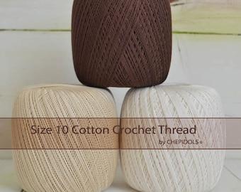 Cotton Crochet thread Size 10/ 100 gr ball/ 610 yard. 3.5 ounces