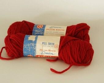 SALE -20% off, vintage knitting yarn, American thread company, wool yarn, Dawn, Scandinavian Fabric