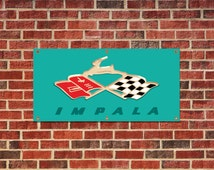Chevy Impala 1959 Tribute Garage Shop Banner