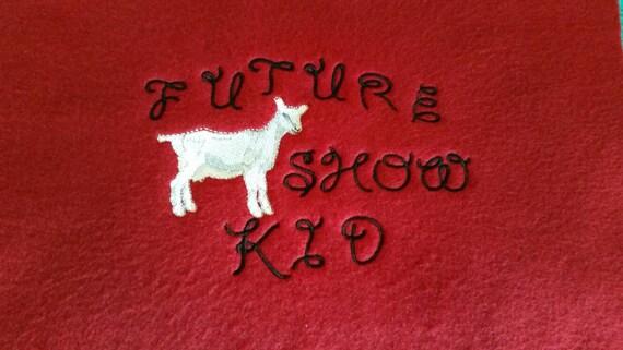 Show goat tshirt - future dairy goat shirt - custom dairy goat tshirt - kids goat shirt - embroidered goat shirt - future show kid
