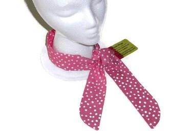 Gardening Gift, Neck Cooling Scarf,  Pink Polka Dot, Cooling Bandanna, Gel Neck Cooler, Gift for Her, Cooling Neck Scarf, Gel Neck Wrap