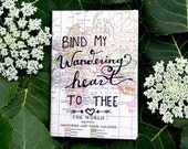 BIND MY HEART // Vintage Map Notebook