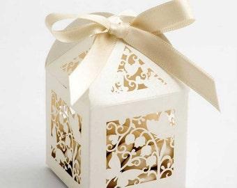 Filigree Laser Cut Wedding Favour Boxes   DIY Favour Boxes   Butterfly Favour Boxes   Lovebird Wedding Favour Boxes