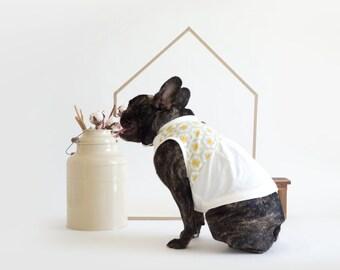 Oh! Basics Dress Top / Mustard Yellow Polka Dots Print