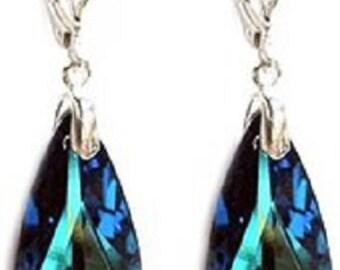 Swarovski Elements Crystal 925 Sterling Silver Earing