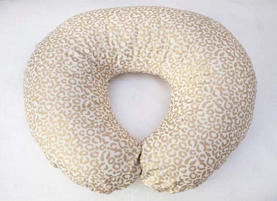Animal Breastfeeding Pillow : Metallic Gold Cheetah Animal Print Boppy Cover Nursing Pillow