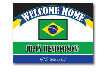 Printable Personalized Return Missionary, LDS Missionary, Missionary Banner, Welcome Home!