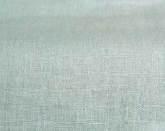 Pastel Blue Fabric/ half Yard Fabric/Baltic Linen/ Softened Linen/ Natural Linen/ Linen Fabric