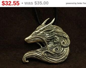 Discount! Eastern dragon Haku inspired bronze pendant necklace