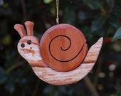 SNAIL CHRISTMAS ORNAMENT a whimsical, cheerful fellow with lots of personality!