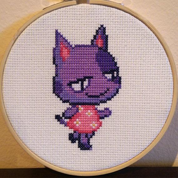 Animal crossing framed bob cross stitch