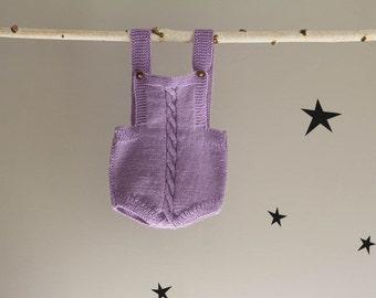 Purple Handknit Romper