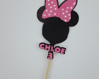 Minnie Mouse Cupcake Toppers Pk 24