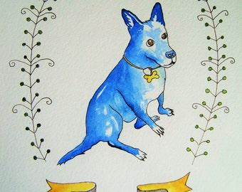 Custom Pet Portrait - Watercolor Pet Portrait - Original Portrait in Watercolors