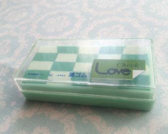Eraser Chek Love Lemon Co Japan Vintage 1980s