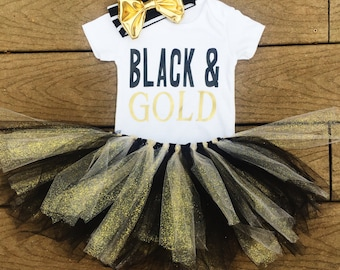 Black and gold onesie; black and gold tutu;onesie and tutu; steelers onesie; steelers clothes; black and yellow outfit