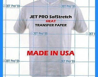 "Jet Pro SofStretch Inkjet Heat Transfer Paper 8.5"" x 11"" (Pack of 10 Sheets)"