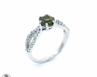 alexandrite ring alexandrite engagement ring lime green alexandrite ring natural alexandrite ring - Alexandrite Wedding Ring