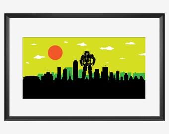 Indianapolis Skyline print, Indianapolis art, Indianapolis print, Indianapolis poster, Beastie boys inspired print, Beastie Boys print, art